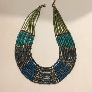 Jewelry - African Imported Teal Green Beaded Necklace